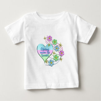 Skiing Sparkles Baby T-Shirt