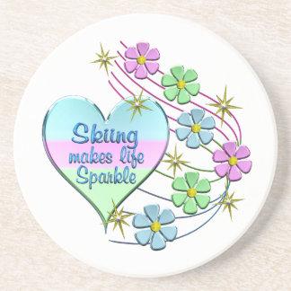 Skiing Sparkles Coaster