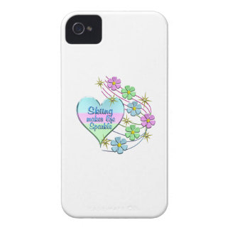 Skiing Sparkles iPhone 4 Cases