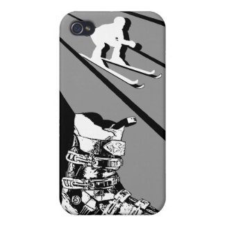 Skiing Speck iPhone 4 Case Ski Boot Classic Black