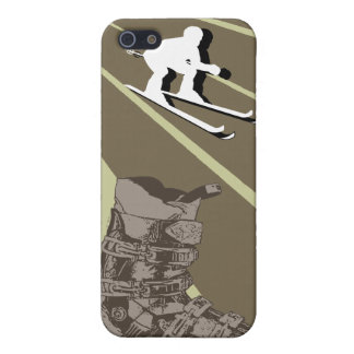 Skiing Speck iPhone 4 Case Ski Boot Combat Brown