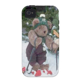 Skiing Teddy Bears on the slopes Vibe iPhone 4 Cover