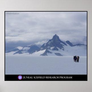 Skiing towards Glacier King in Alaska Poster