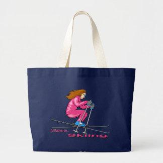 Skiing Woman Bag