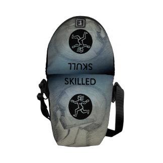 SKILLED SKULL MESSENGER BAGS