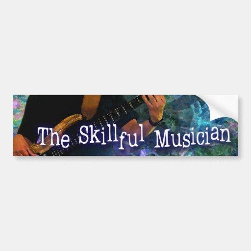 Skillful Musician Bumper sticker