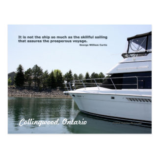 Skillful Sailing Postcard