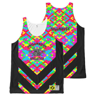 SKILLHAUSE ATHLETICS - RACE READY MIX REV All-Over PRINT SINGLET