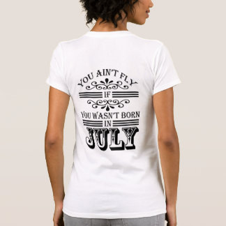 SKILLHAUSE - FLY IN JULY (BLACK LETTER) T-Shirt
