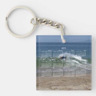 Skimmer Splash; 2013 Calendar Single-Sided Square Acrylic Key Ring
