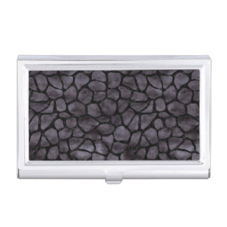SKIN1 BLACK MARBLE & BLACK WATERCOLOR BUSINESS CARD HOLDER
