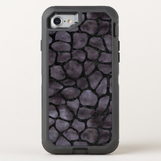 SKIN1 BLACK MARBLE & BLACK WATERCOLOR OtterBox DEFENDER iPhone 8/7 CASE