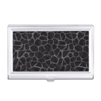 SKIN1 BLACK MARBLE & BLACK WATERCOLOR (R) BUSINESS CARD HOLDER