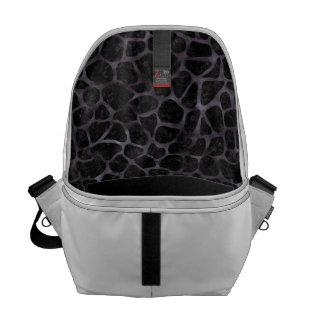 SKIN1 BLACK MARBLE & BLACK WATERCOLOR (R) COURIER BAG