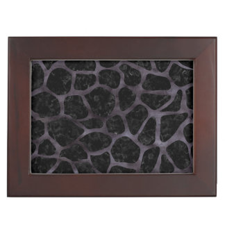 SKIN1 BLACK MARBLE & BLACK WATERCOLOR (R) KEEPSAKE BOX