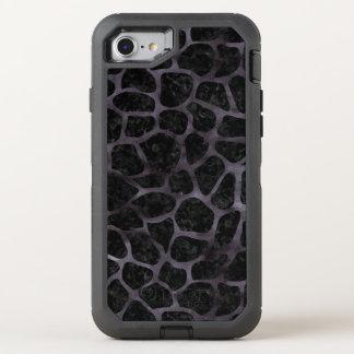 SKIN1 BLACK MARBLE & BLACK WATERCOLOR (R) OtterBox DEFENDER iPhone 8/7 CASE