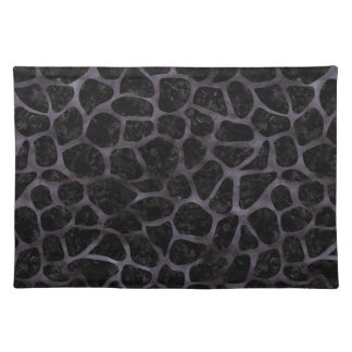 SKIN1 BLACK MARBLE & BLACK WATERCOLOR (R) PLACEMAT