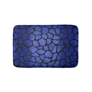 SKIN1 BLACK MARBLE & BLUE BRUSHED METAL BATH MAT