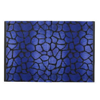 SKIN1 BLACK MARBLE & BLUE BRUSHED METAL COVER FOR iPad AIR
