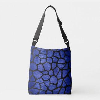 SKIN1 BLACK MARBLE & BLUE BRUSHED METAL CROSSBODY BAG