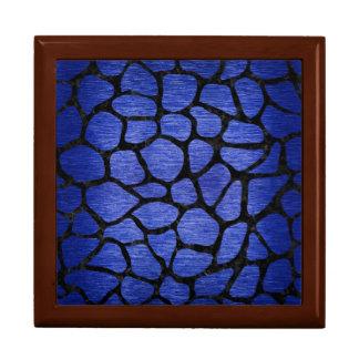 SKIN1 BLACK MARBLE & BLUE BRUSHED METAL GIFT BOX