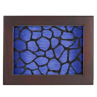 SKIN1 BLACK MARBLE & BLUE BRUSHED METAL KEEPSAKE BOX