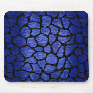 SKIN1 BLACK MARBLE & BLUE BRUSHED METAL MOUSE PAD