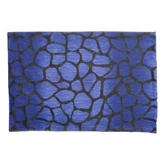 SKIN1 BLACK MARBLE & BLUE BRUSHED METAL PILLOWCASE