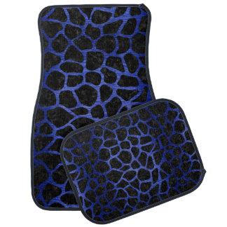 SKIN1 BLACK MARBLE & BLUE BRUSHED METAL (R) CAR MAT