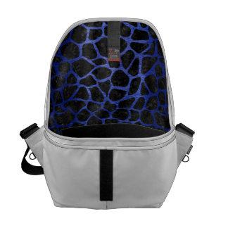 SKIN1 BLACK MARBLE & BLUE BRUSHED METAL (R) COMMUTER BAG
