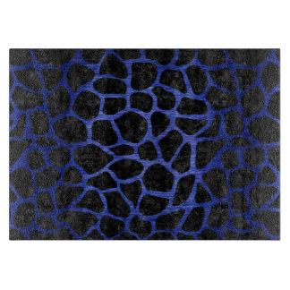 SKIN1 BLACK MARBLE & BLUE BRUSHED METAL (R) CUTTING BOARD