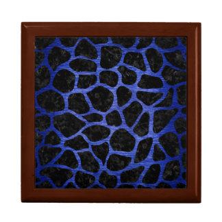 SKIN1 BLACK MARBLE & BLUE BRUSHED METAL (R) GIFT BOX