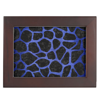SKIN1 BLACK MARBLE & BLUE BRUSHED METAL (R) KEEPSAKE BOX