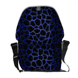 SKIN1 BLACK MARBLE & BLUE BRUSHED METAL (R) MESSENGER BAGS