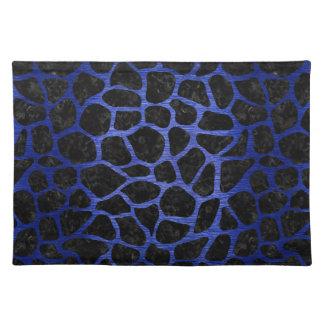 SKIN1 BLACK MARBLE & BLUE BRUSHED METAL (R) PLACEMATS