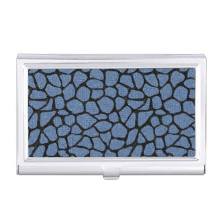 SKIN1 BLACK MARBLE & BLUE DENIM BUSINESS CARD HOLDER