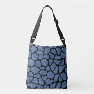 SKIN1 BLACK MARBLE & BLUE DENIM CROSSBODY BAG