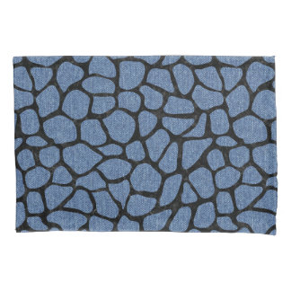 SKIN1 BLACK MARBLE & BLUE DENIM PILLOWCASE