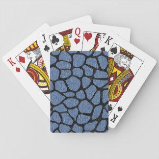 SKIN1 BLACK MARBLE & BLUE DENIM PLAYING CARDS