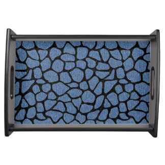 SKIN1 BLACK MARBLE & BLUE DENIM SERVING TRAY