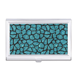 SKIN1 BLACK MARBLE & BLUE-GREEN WATER BUSINESS CARD HOLDER