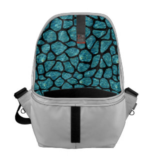 SKIN1 BLACK MARBLE & BLUE-GREEN WATER COMMUTER BAGS