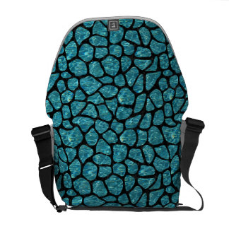 SKIN1 BLACK MARBLE & BLUE-GREEN WATER COURIER BAGS