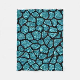 SKIN1 BLACK MARBLE & BLUE-GREEN WATER FLEECE BLANKET