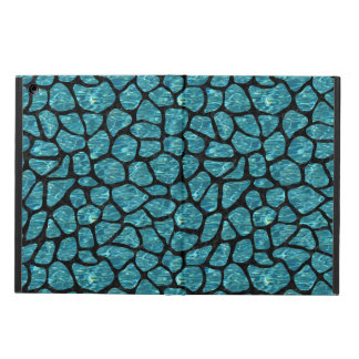 SKIN1 BLACK MARBLE & BLUE-GREEN WATER iPad AIR CASE