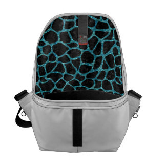 SKIN1 BLACK MARBLE & BLUE-GREEN WATER (R) COURIER BAGS