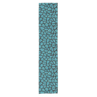 SKIN1 BLACK MARBLE & BLUE-GREEN WATER SHORT TABLE RUNNER
