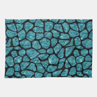SKIN1 BLACK MARBLE & BLUE-GREEN WATER TEA TOWEL