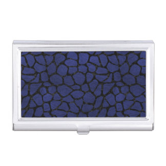 SKIN1 BLACK MARBLE & BLUE LEATHER BUSINESS CARD HOLDER