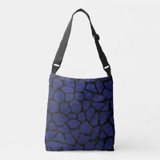 SKIN1 BLACK MARBLE & BLUE LEATHER CROSSBODY BAG